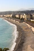 the promenade at the city of nice - stock photo
