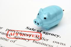 sale of agency - stock photo