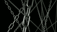 Stock Video Footage of Chains Fly Through Looping Animated Background