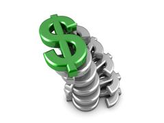 top dollar - stock illustration