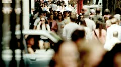 City Streets Crowded With People - stock footage