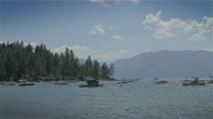 Lake Tahoe Boating Stock Footage