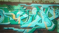 Graff montage movement Stock Footage