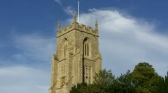 Church England countryside - stock footage