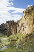 smith rock state park in oregon usa, nature stock photography - stock photo