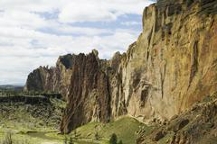 smith rock state park in oregon usa - stock photo