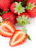 appetizing strawberries - stock photo