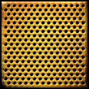 Gold dotted metal background Stock Photos