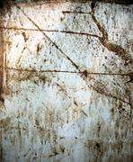 stained grungy metal sheet - stock photo