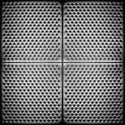 steel dotted metal background - stock photo