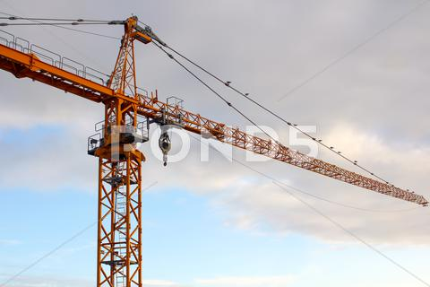 Stock photo of yellow crane