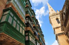 Historic street of La Valette Stock Photos