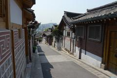 Historic streets of Seoul Stock Photos