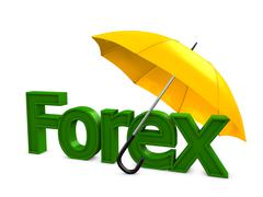 forex umbrella - stock illustration