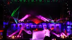 Performance at the Kazantip 2012 - stock footage