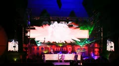 Performers on the stage of Kazantip - stock footage