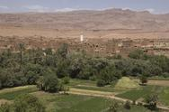 Stock Photo of panorama of a village among Moroccan hills