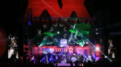 Stage show at Kazantip 2012 Stock Footage