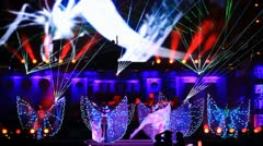 Butterfly dancers - stock footage