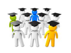 Stock Illustration of graduate