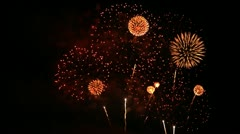 Colorful holiday fireworks Stock Footage