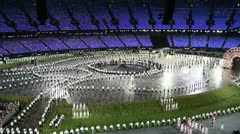 The procession of athletes at the London 2012 Olympic Games Stock Footage