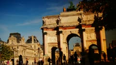 Louvre arch Stock Footage