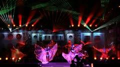 Luminous dancers - stock footage