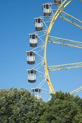 Stock Photo of ferris wheel with trees