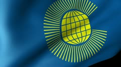 Commonwealth of Nations Flag Waving Stock Footage