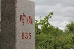 Kivi, joka merkitsee rajojen Kiinan ja Vietnamin. Kuvituskuvat