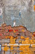 Colored brick wall texture Stock Photos