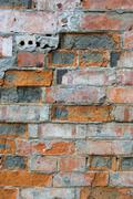 Colored brick wall texture Stock Photos