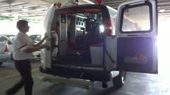 closing ambulance doors - stock footage