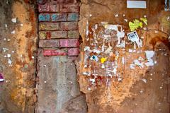 colored brick wall texture - stock photo