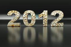 3d new year 2012 Stock Illustration