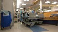 Emergency room in hospital Stock Footage