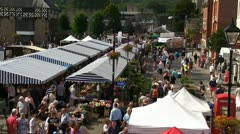 A view of the Ludlow town square during the 2012 Food Festival Stock Footage
