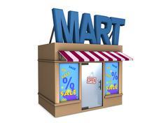 Mart Stock Illustration