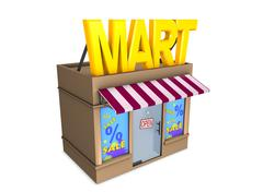 mart - stock illustration