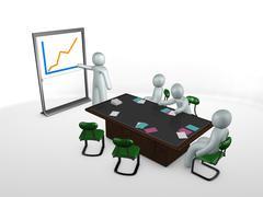meeting staff - stock illustration
