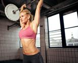 Stock Photo of woman lifting weight