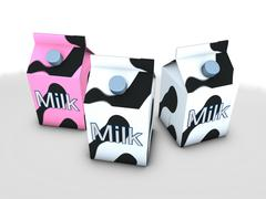 Milk box Stock Illustration