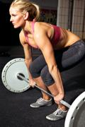 female fitness workout - stock photo