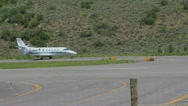 Stock Video Footage of A Cessna 560XL preps for takeoff and flight in Aspen, CO - 2