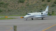 Stock Video Footage of A Cessna 560XL preps for takeoff and flight in Aspen, CO - 3