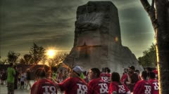 Martin Luther King Memorial HDR Time Lapse Stock Footage