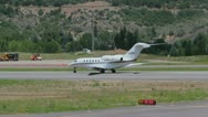 Stock Video Footage of A Cessna 560XL preps for takeoff and flight in Aspen, CO - 4