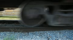 Low-Profile Freight Train Wheels - stock footage