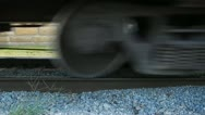 Stock Video Footage of Low-Profile Freight Train Wheels